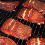 Smoked Trout on Grill